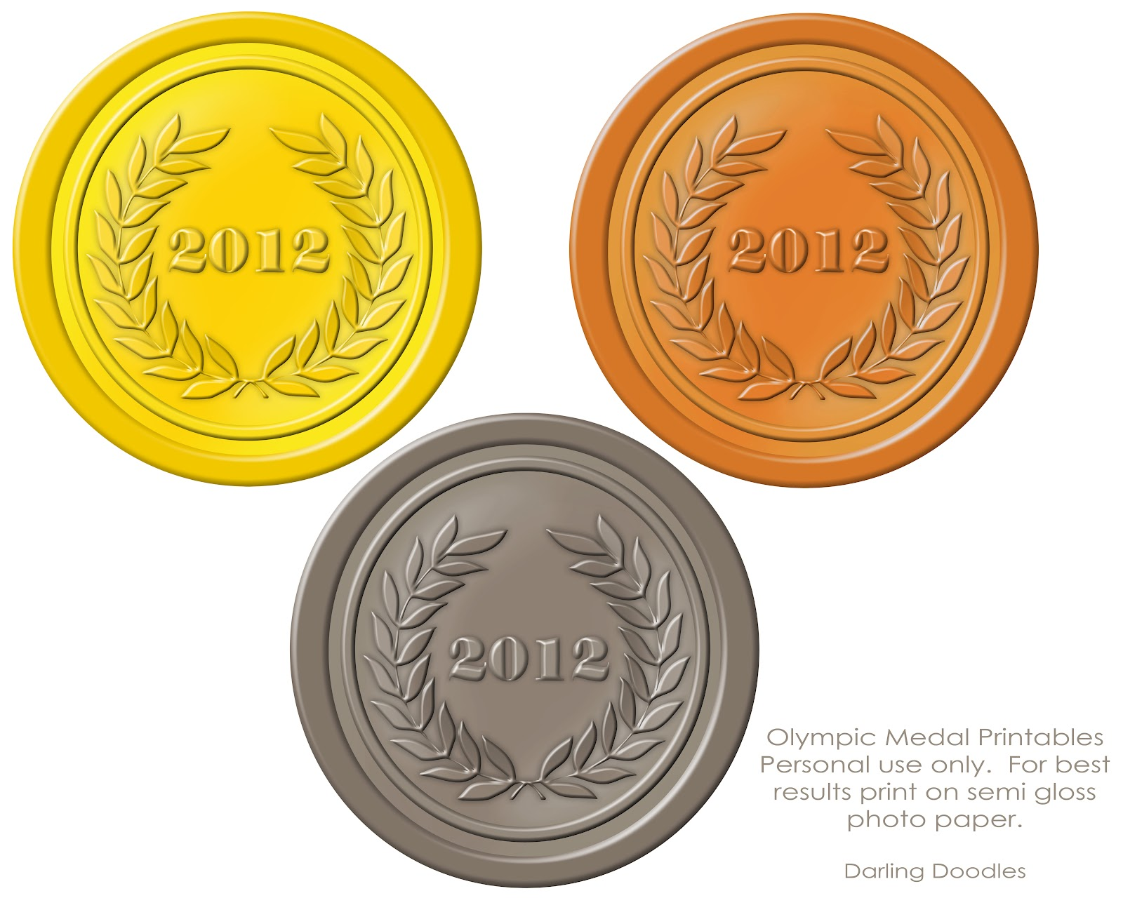 picture about Printable Medals named Olympic Printables - Darling Doodles