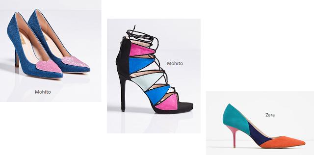 kolorowe fantazyjne buty