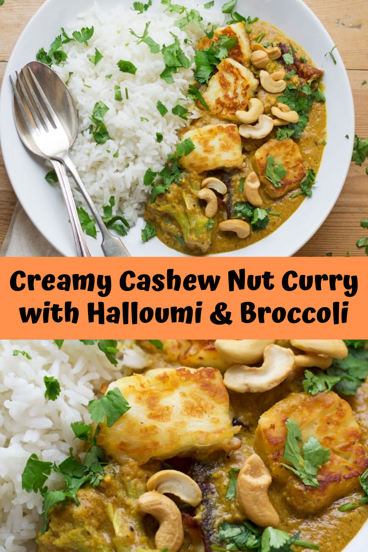 Creamy Cashew Nut Curry with Halloumi & Broccoli