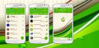Green Apple iOS Theme For YOWhatsApp & GB WhatsApp By Leideh