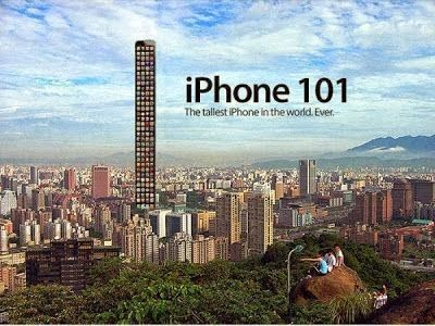 The tallest iPhone in the world. Ever