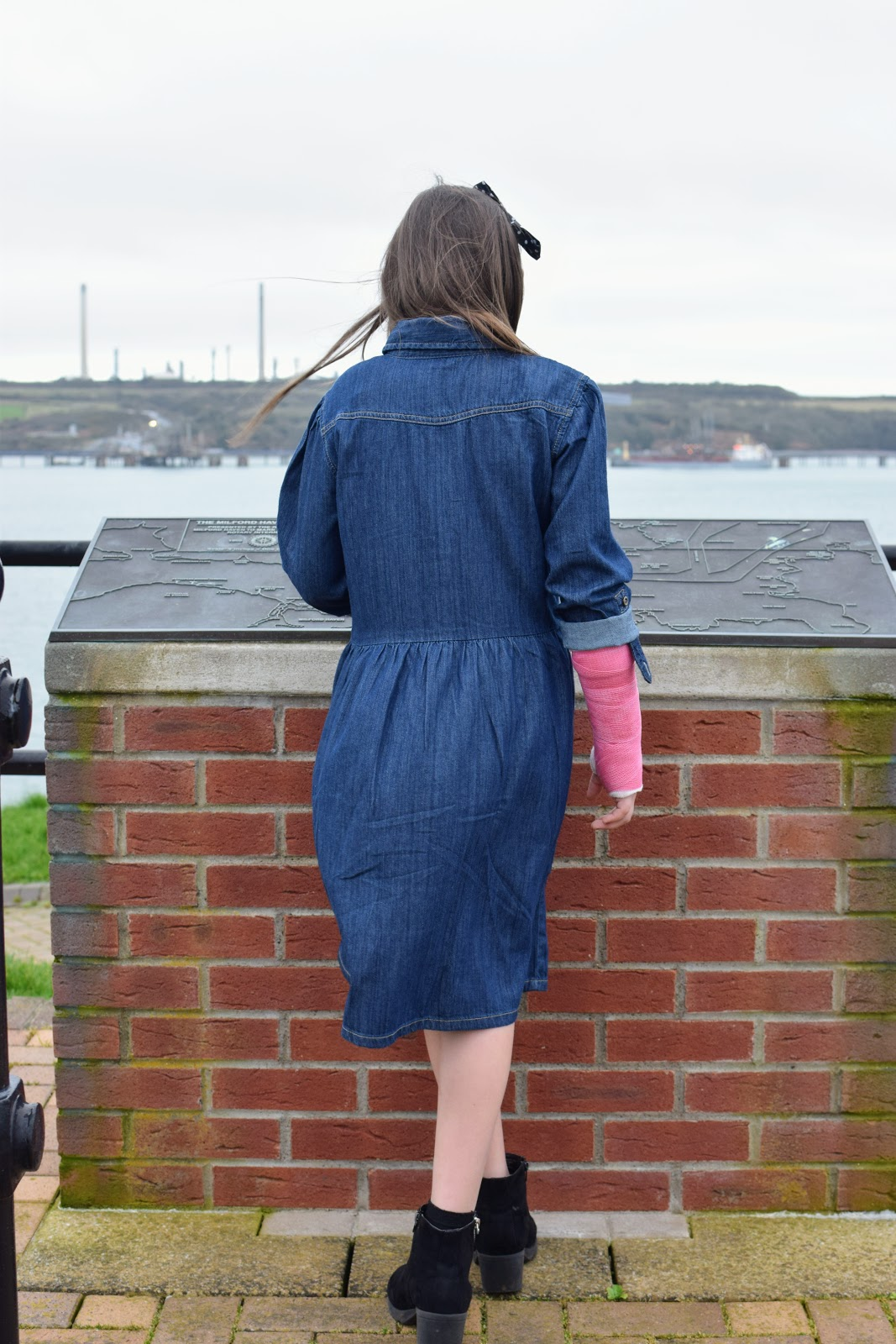 , Style:  A Girl's Denim Dress for Spring