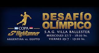 Argentina - Egipto amistoso handball masculino