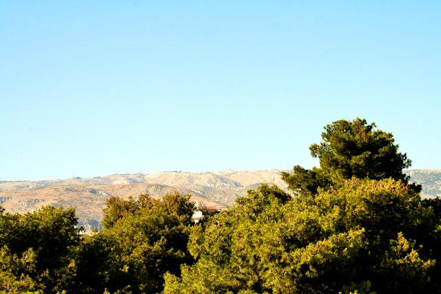 montagne, cielo, alberi