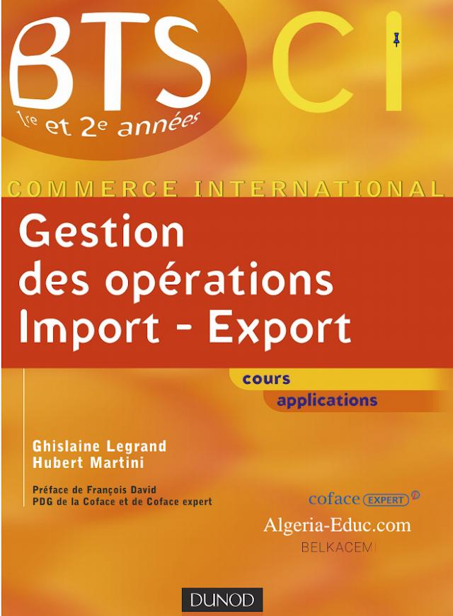 la gestion des Opérations import - Export PDF