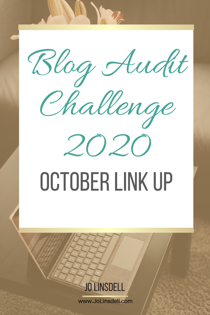 Blog Audit Challenge 2020: October Link Up #BlogAuditChallenge2020