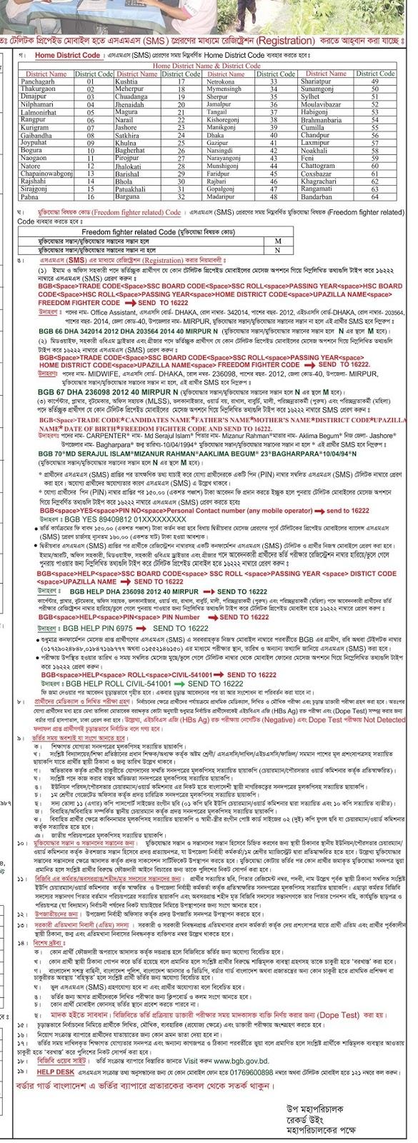 বর্ডার গার্ড বাংলাদেশ (বিজিবি) এর অসামরিক বিভিন্ন পদে নিয়োগ বিজ্ঞপ্তি ২০২০ ও আবেদন করার নিয়ম.jpg