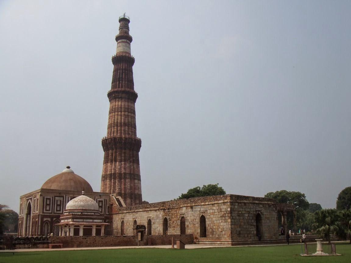 Image of the worlds tallest Minaret : Qutub Minar (Image source : Wikipedia)