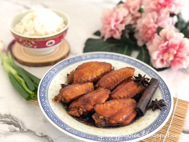 soy-braised chicken wings video