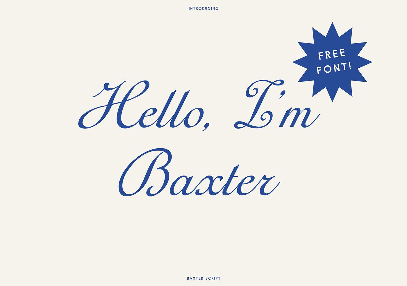 تحميل خط باكستر اللاتينى الرائع - Baxter Font