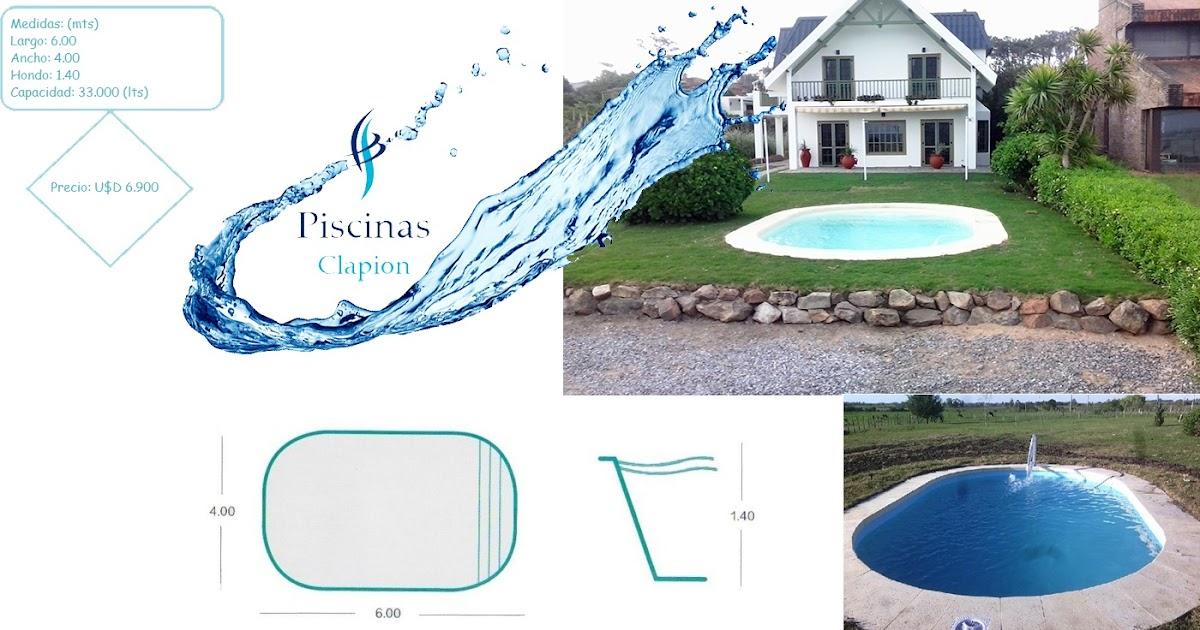 Piscinas clapion for Piscina 8 metri x 4