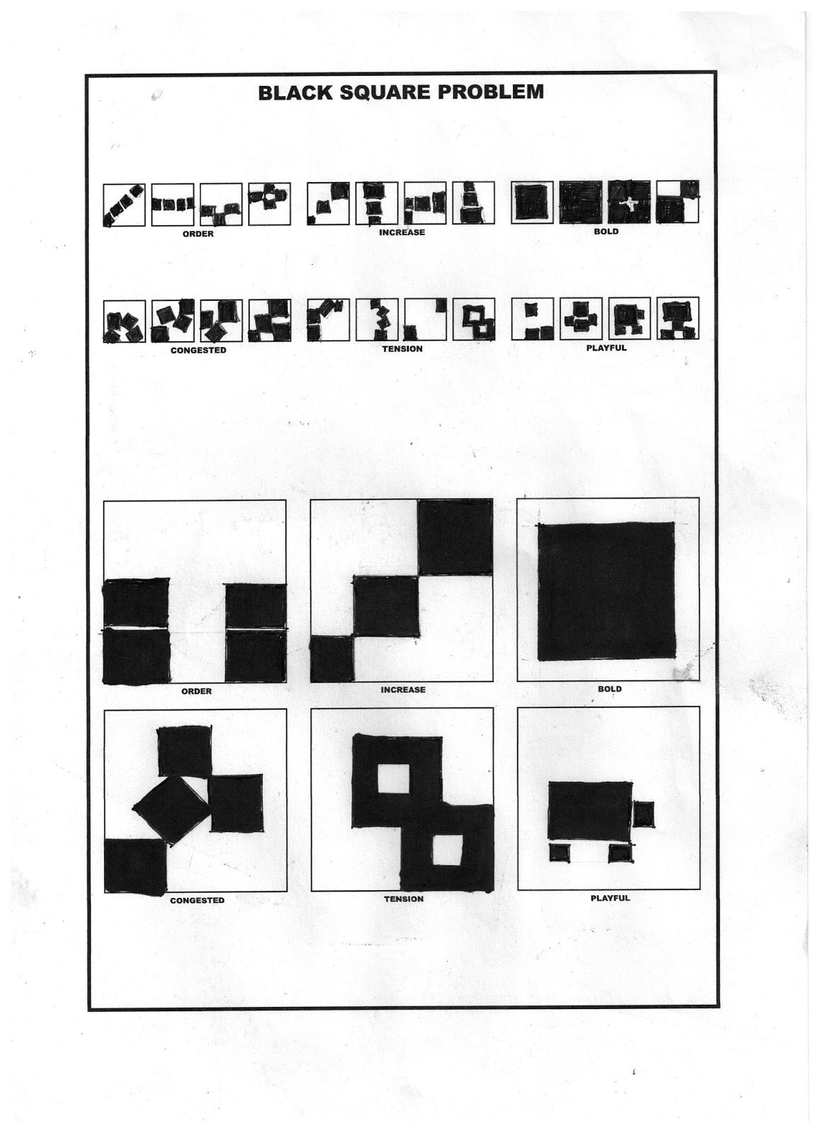 starting graphic design course: black square problem