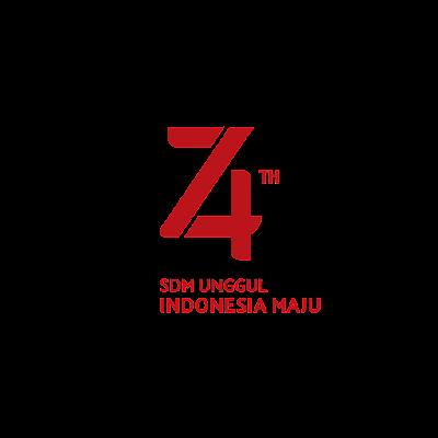 Logo HUT RI ke 74 Tahun