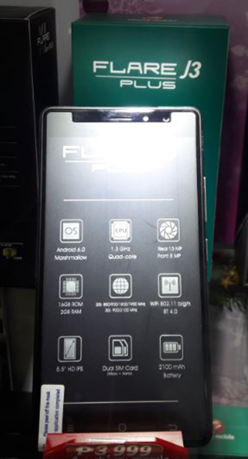 Cherry Mobile Flare J3 Plus With Fingerprint Scanner Spotted, Retails For 3999 Pesos!