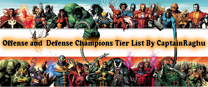 Mcoc Tier List For Offense And Defense December 2019 Updated