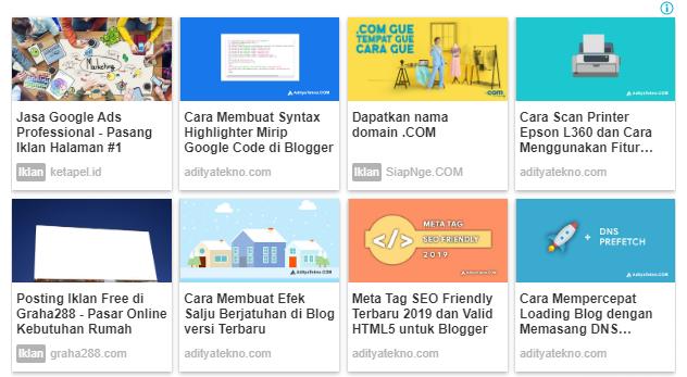 Cara Mengubah Tampilan Iklan Matched Content Google AdSense