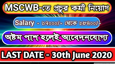 MSCWB Recruitment 2020—Apply Online For 25 Field Worker and General Duty Attendant Posts
