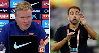 Koeman angry with reporter after yet another Xavi question