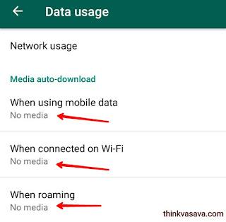 Whatsapp auto media download disable