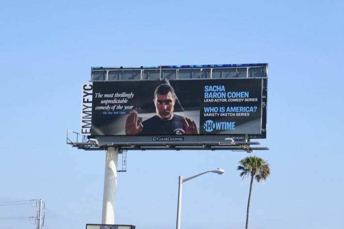 Who Is America 2019 Emmy FYC billboard