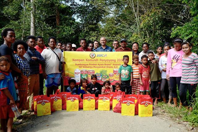 Kempen #AyamBersamaMu Menyokong Orang Asli dengan Makanan Berkhasiat  Ayam Brand & JAKOA Bantu Komuniti di Kampung Orang Asli Teluk Gunung, Pahang