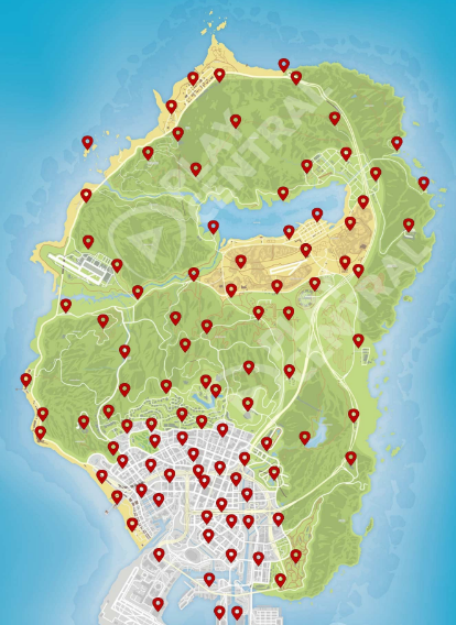 Locations of the 100 action figures in GTA Online