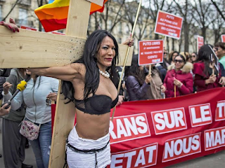 Prostitutes challenge after new law is passed making it unlawful to pay for sex in France (photographs)