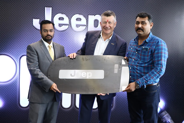 Mr.Kevin Flynn President and Managing Director FCA India Inaugurated India's first Jeep Destination Store in Ahmedabad