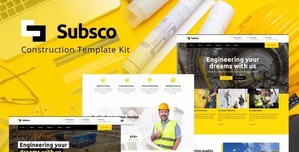 Best Construction Elementor Template Kit