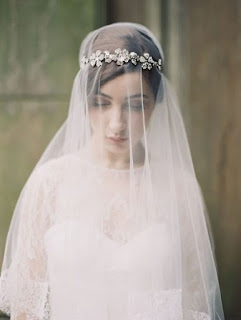Epic wedding hairstyles for long hair with sacred veil over face