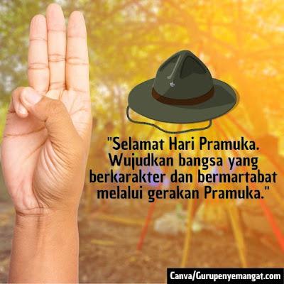 Gambar Ucapan Selamat Hari Pramuka Indonesia (1)