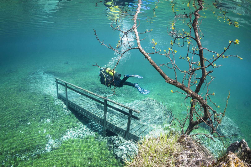 Green Lake in Tragoess, Austria