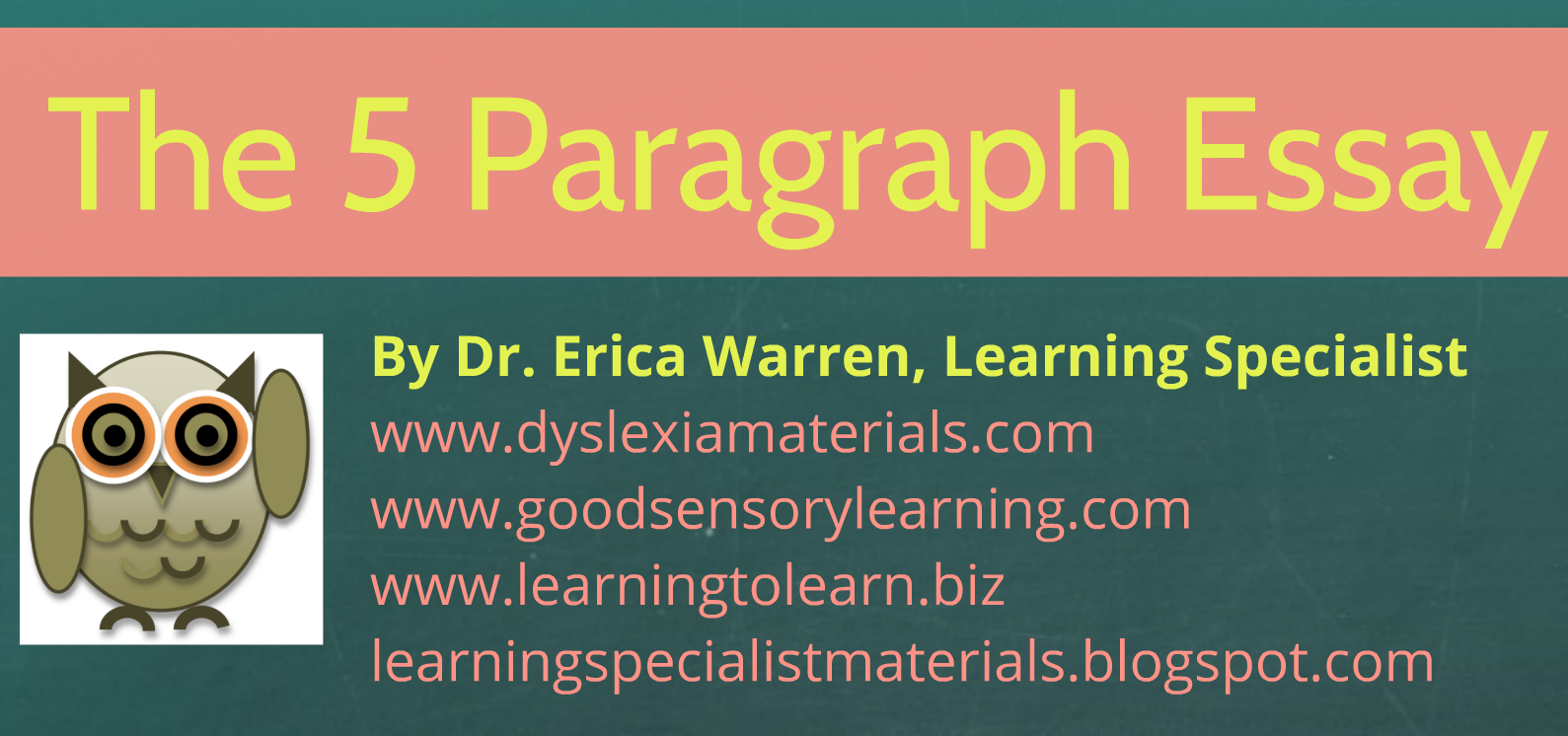 A Special Sparkle: Learning the 5 Paragraph Essay: A Free Prezi