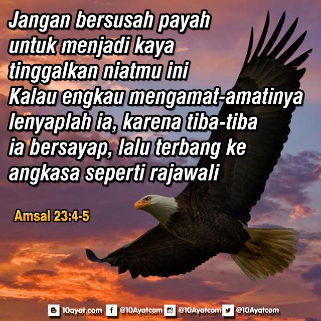 Amsal 23: 4-5