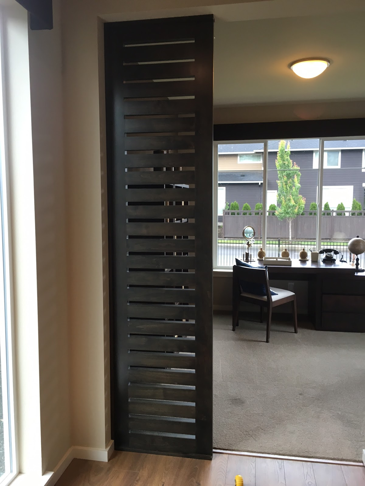Ash and walnut llc custom built ins for your home 120 - Built in room dividers ...