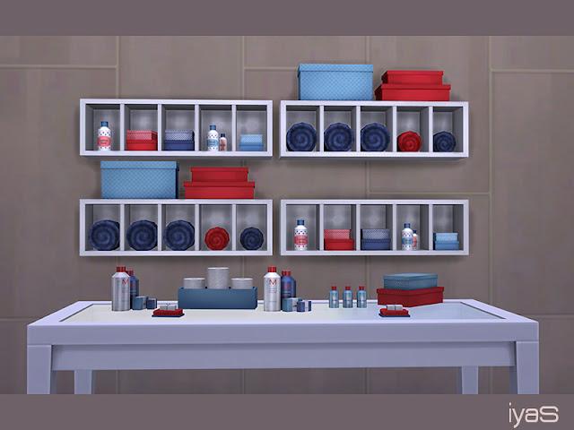Bathroom Decor Set Набор для ванной для The Sims 4 Различные декоративные предметы первой необходимости для ванной комнаты. Поставляется с 7 отдельными декоративными предметами. 4 варианта цвета. Автор: soloriya
