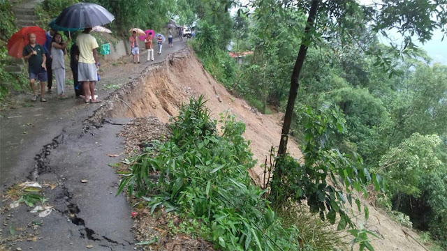 landslides across Darjeeling, portion of Tindharia washed away