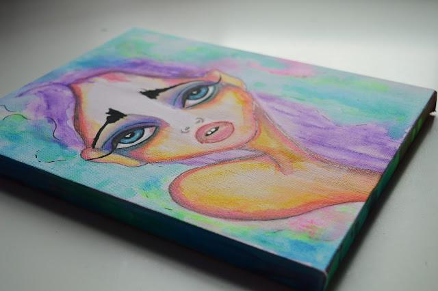 Bebee Pino girl with purple hair