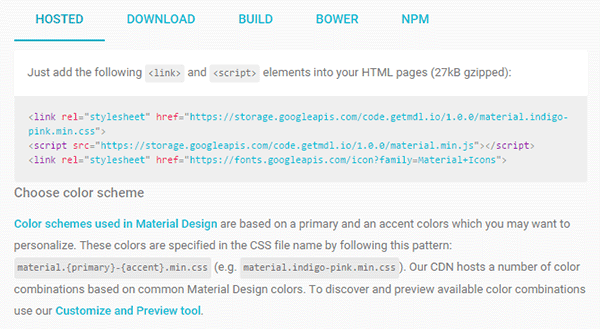 Download Material Design Lite