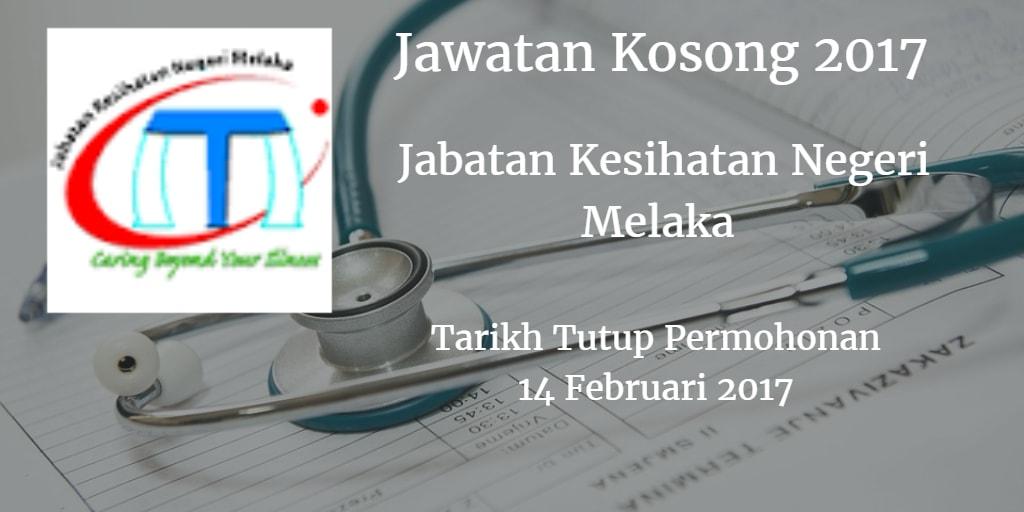 Jawatan Kosong JKN Melaka 14 Februari 2017