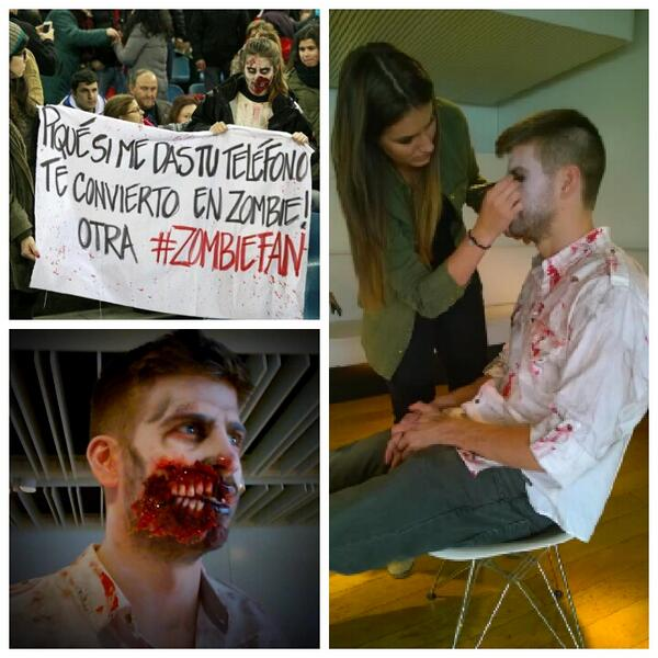 Gerard Piqué gets full zombie make-up