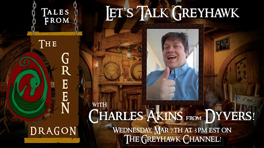 THE GREYHAWK TALK BEGINS AT 3:00!