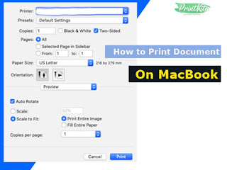 How to print document or photo on Mac