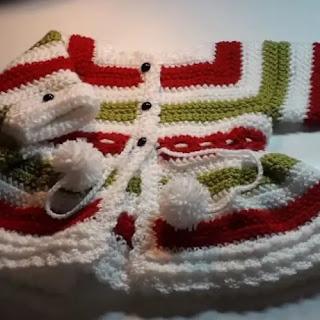 Cardigan de Rayas para Bebé a Crochet
