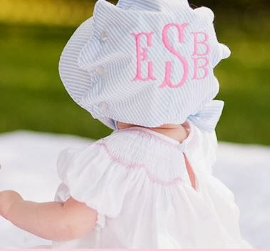 83ab90baa5f Look no further than these adorably cute baby bonnets! The perfect  compliment to our monogrammed baby sun hats
