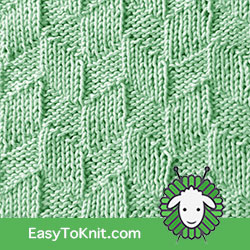 Easy To Knit - Parallelogram Knit Purl Stitch Pattern