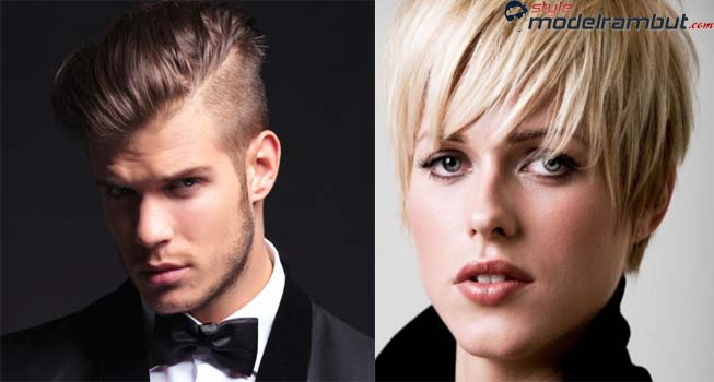 model rambut pendek pria dan wanita