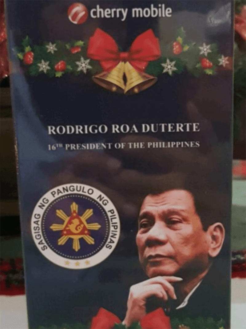 Cherry Mobile has a rare Limited Edition Duterte Flare J2S