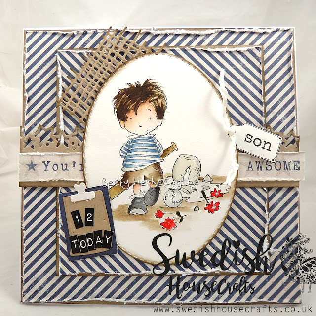 Denim Collection Boy Card | By Becky