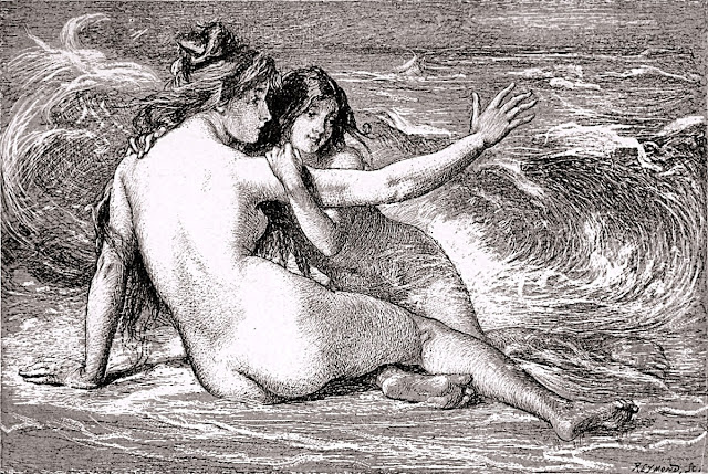 Nicolas Auguste Laurens - sous la vague - erotismo - arte - omofilia